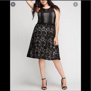 Lane Bryant Black Lace Overlay Dress